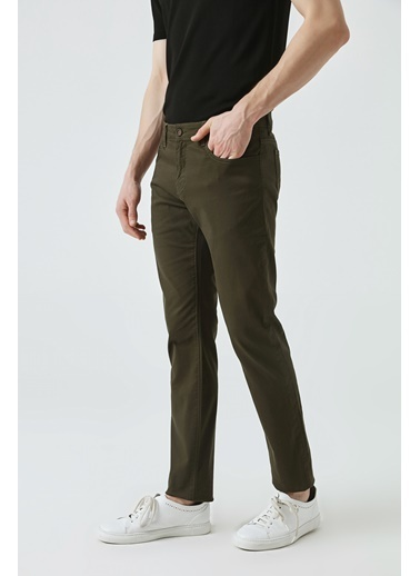 D'S Damat Slim Fit Chino Pantolon Haki